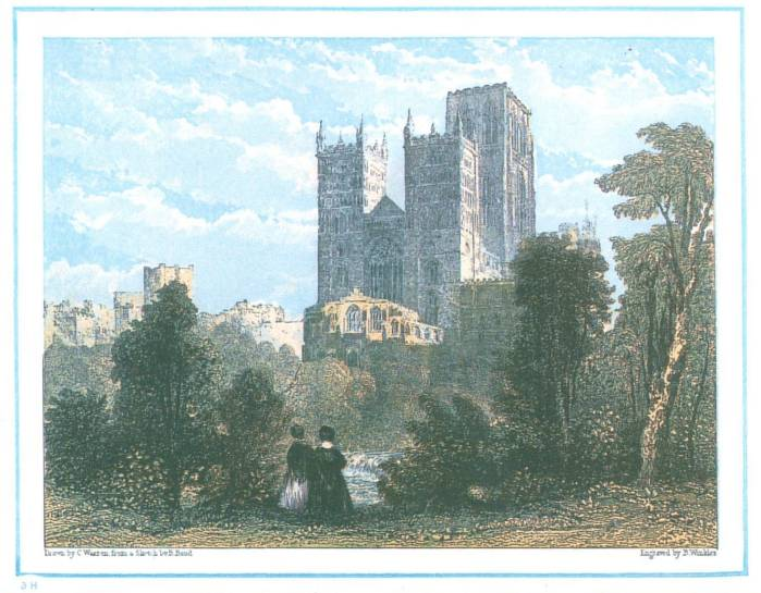 card2014 Durham Cathedral, south west view